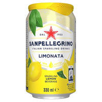 San Pellegrino Limonata / Lemon Sparkling Drink - 330ml Can - Pack of 24
