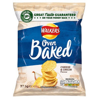 Walkers Baked Cheese & Onion Crisps - 37.5g bag - Pack of 32
