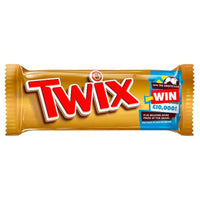 Twix Chocolate Biscuit Bar - 50g bar - Pack of 32