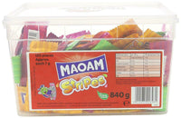 HARIBO MAOAM Stripes - 840g tub - Pack of 120 loose sweets