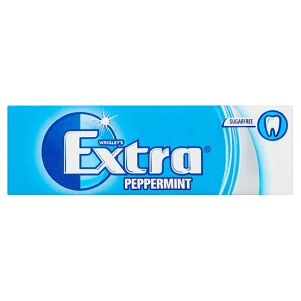 Wrigleys Extra Peppermint Chewing Gum - 10 piece pocket pack - Pack of 30