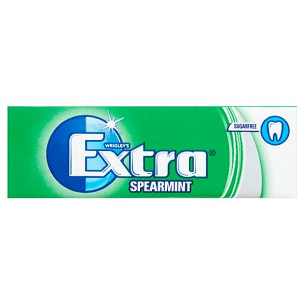 Wrigleys Extra Spearmint Chewing Gum - 10 piece pocket pack - Pack of 30