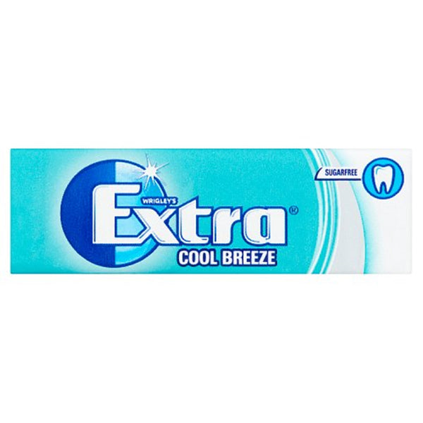 Wrigleys Extra Cool Breeze Chewing Gum - 10 piece pocket pack - Pack of 30