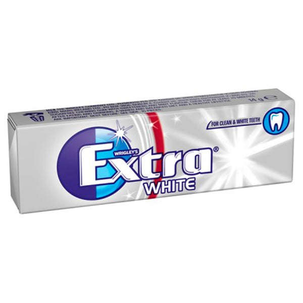 Wrigleys Extra White Chewing Gum - 10 piece pocket pack - Pack of 30