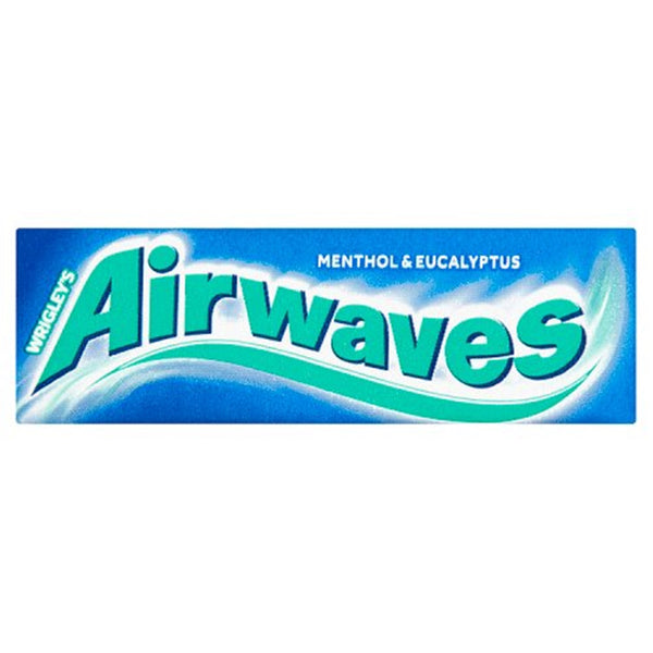 Airwaves Menthol & Eucalyptus Chewing Gum - 10 piece pocket pack - Pack of 30