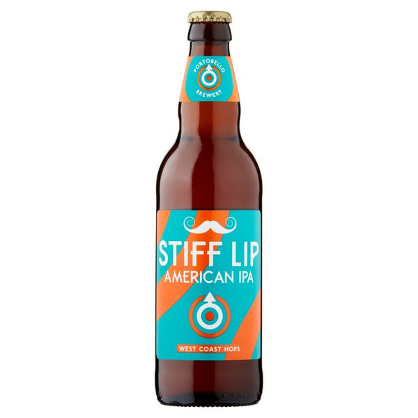 Portobello Brewing Co. Stiff Lip American IPA - 500ml Bottle - Pack of 8