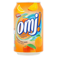 OMJ! Sparkling Tropical Juice Drink - 330ml Can - Pack of 24