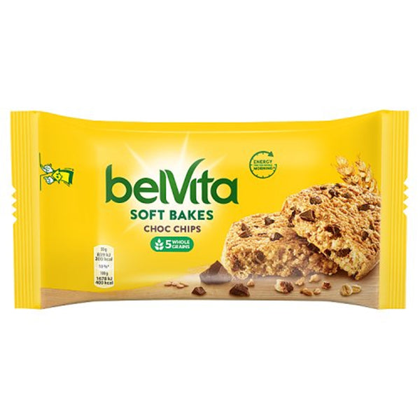 Belvita Soft Bake Chocolate Chip Breakfast Biscuit - 50g bar - Pack of 20