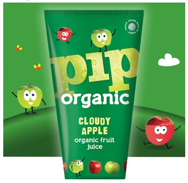 PIP Organic Cloudy Apple Juice - 180ml Carton - Pack of 24