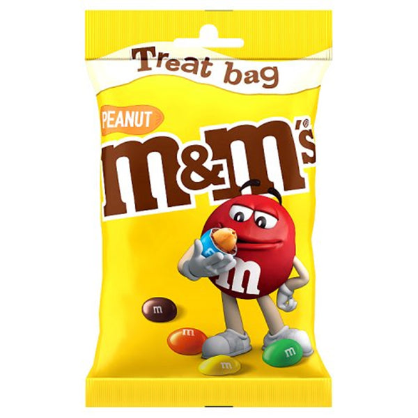 M&M's Peanut Chocolate Treat Bag - 82g bag - Pack of 16