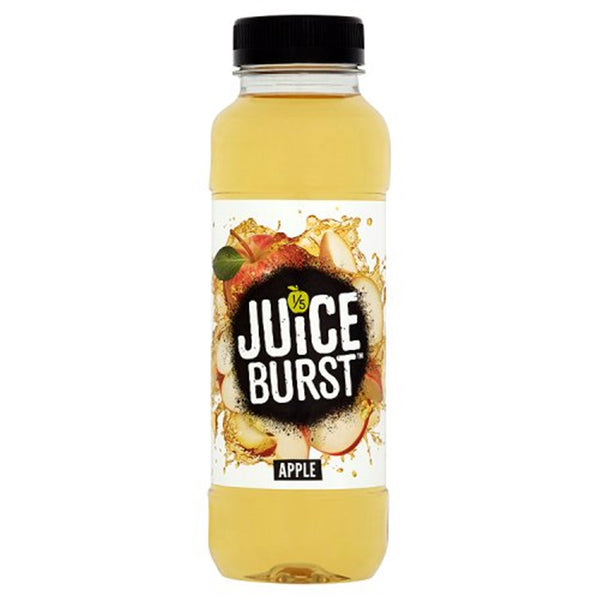 Juice Burst Apple Drink - 330ml Bottle - Pack of 12 (School Approved)