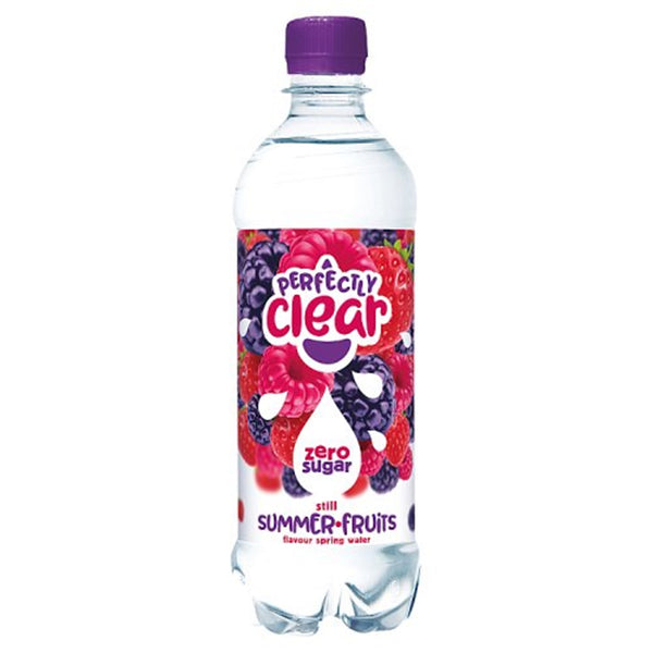 Perfectly Clear Summer Fruits Still Water - 500ml Bottle - Pack of 12