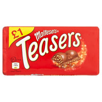 Maltesers Teasers Chocolate Bar Block - 100g block - Pack of 23