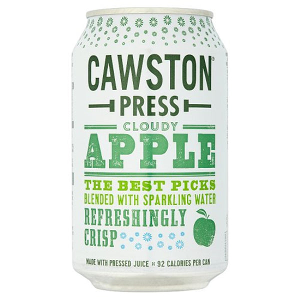 Cawston Press Cloudy Apple Soda - 330ml Can - Pack of 24