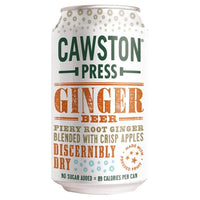 Cawston Press Ginger Beer Soda - 330ml Can - Pack of 24