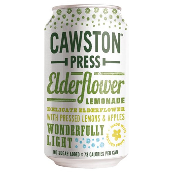 Cawston Press Elderflower Lemonade Soda - 330ml Can - Pack of 24