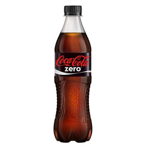 Coca-Cola Zero Sugar - 500ml Bottle - Pack of 12