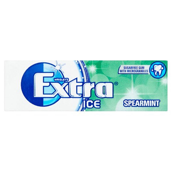 Wrigleys Extra Ice Spearmint Chewing Gum - 10 piece pocket pack - Pack of 30