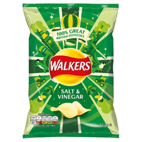 Walkers Salt & Vinegar Crisps - 32.5g bag - Pack of 32