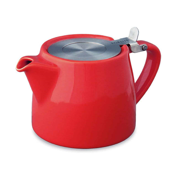 Birchall Stump Tea Pot with Infuser Basket - Red - 530ml / 18oz