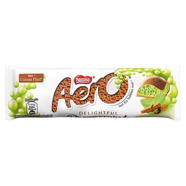 Aero Bubbly Peppermint Chocolate Bar - 36g bar - Pack of 24
