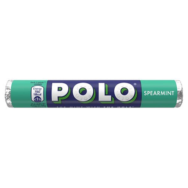 Polo Spearmint Mints Roll - 34g roll - Pack of 32