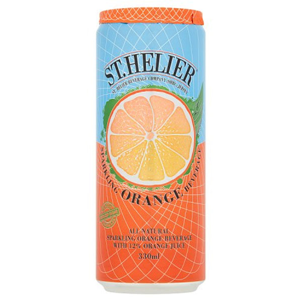 St Helier Sparkling Orange Beverage - 330ml Can - Pack of 24