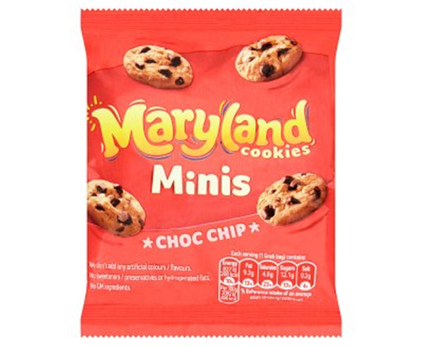 Maryland Chocolate Chip Mini Cookies - 40g bag - Pack of 48