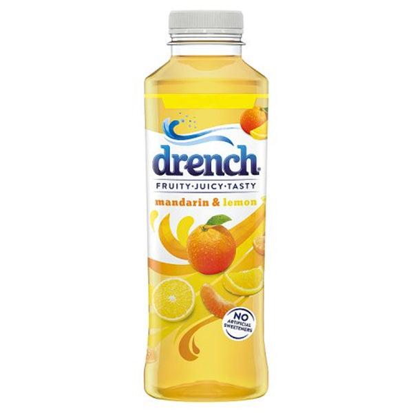 Drench Mandarin & Lemon Drink - 500ml Bottle - Pack of 12