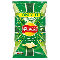 Walkers Salt & Vinegar Crisps - 75g bag - Pack of 15