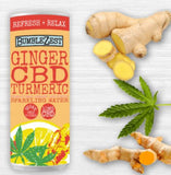Bumblezest Ginger, CBD & Tumeric Sparkling Water - 250ml Can - Pack of 24