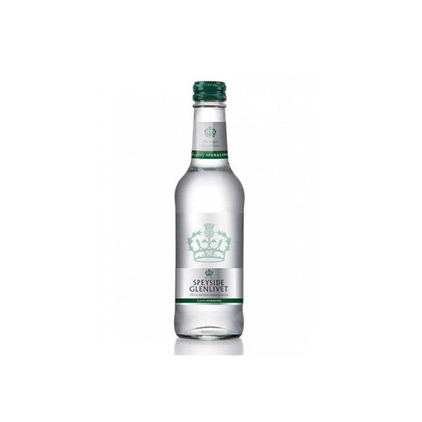Speyside Glenlivet Scottish Lightly Sparkling Water - 330ml Glass Bottle - Pack of 24