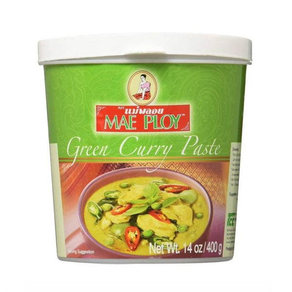 Mae Ploy Thai Green Curry Paste - 400g