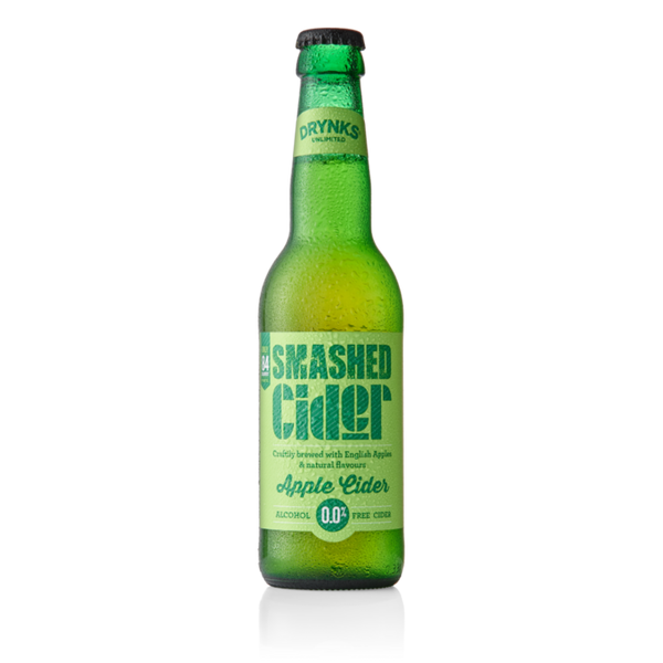Smashed 0% Apple Cider - Alcohol Free - 330ml - Pack of 12