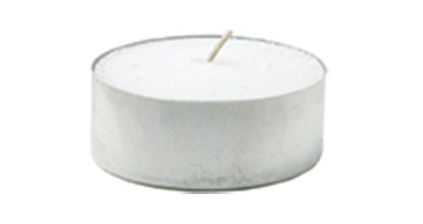Duni Tea Light Candles - White - 4 Hour Burn Time - Pack of 100
