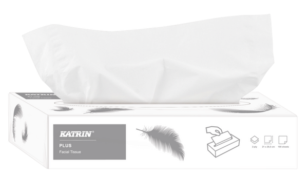 Katrin Plus Facial Tissue Box - Contains 100 tissues