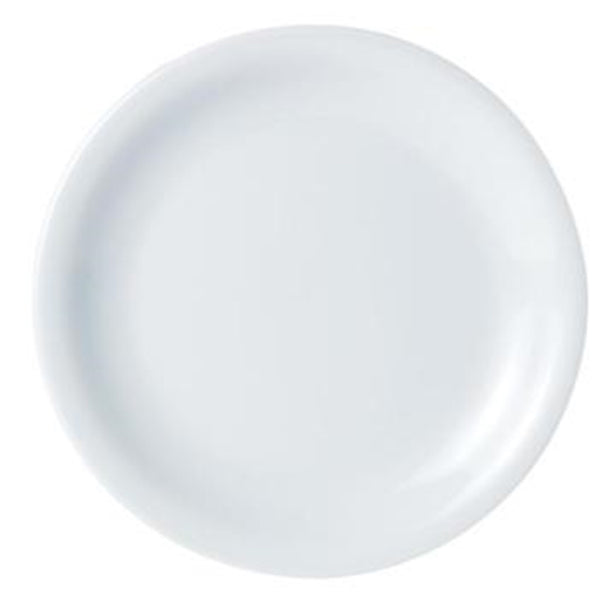 DPS Porcelite Narrow Rim Plate - White Porcelain - 16cm - Pack of 6