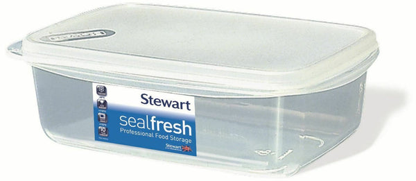 Stewart Seal Fresh Rectangular Container & Lid - 1 Litre Capacity