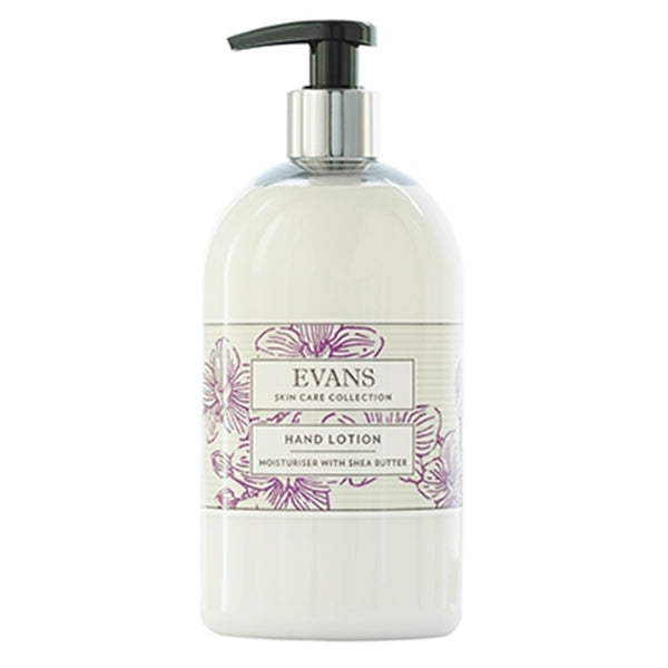 Evans Hand Lotion - Moisturiser with Shea Butter- 500ml Dispenser Bottle