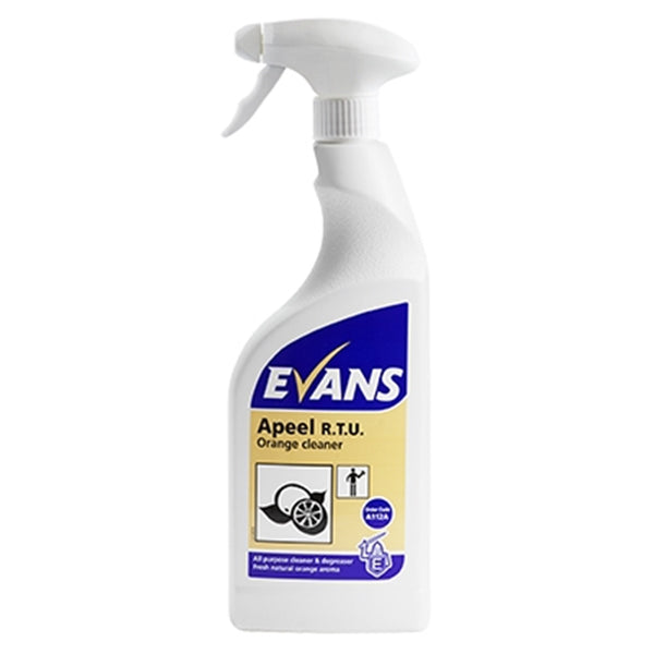 Evans Apeel Ready to Use - Orange Surface Cleanser - 750ml Spray Bottle