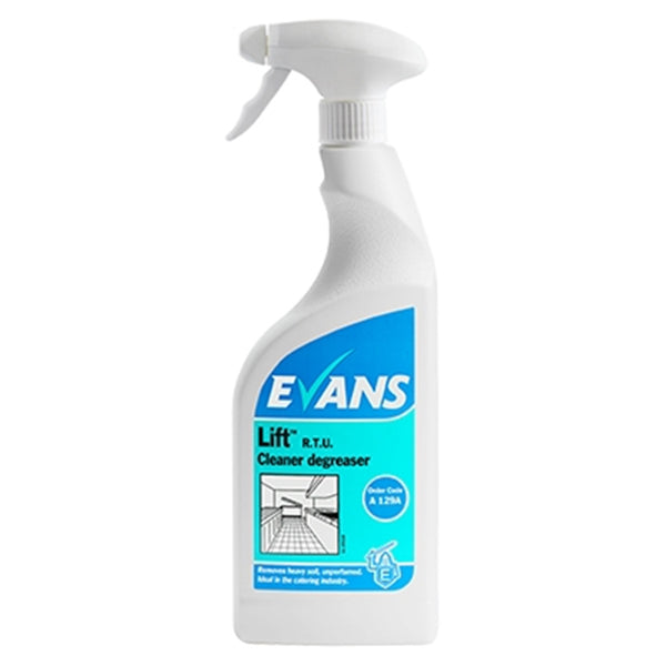 Evans Lift Ready to Use - Heavy Duty Unperfumed Cleaner Degreaser - 750ml Bottle