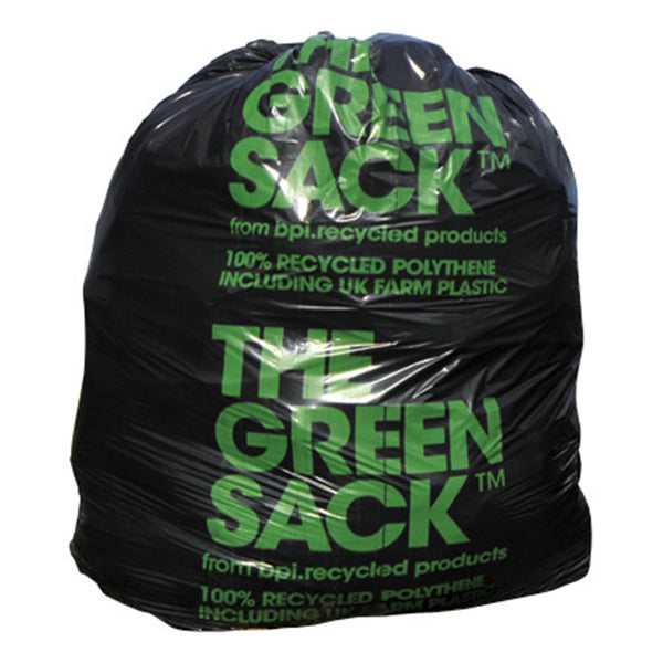 RPC Extra Heavy Duty Black Bin Liner/ Refuse Sack - 18 x 29 x 39 inches - Pack of 200