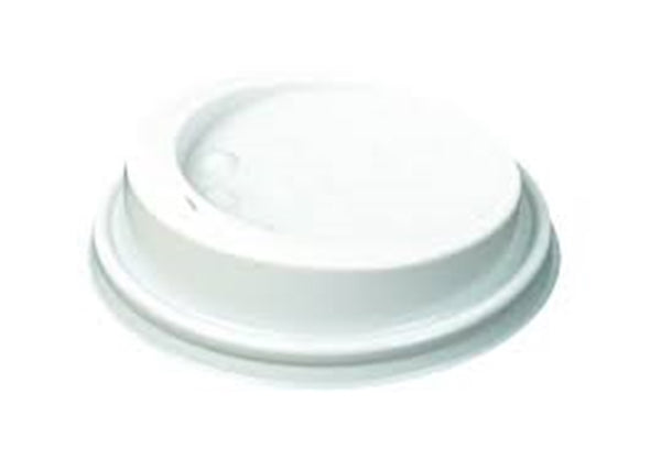 Huhtamaki Sip Lid for 12oz Double Wall Cups & more - White Plastic - 90mm - Pack of 125