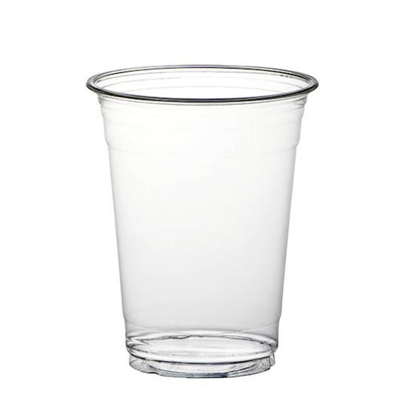 Huhtamaki Clear Plastic Disposable Tumblers/ Cups - 12oz Capacity - Pack of 50