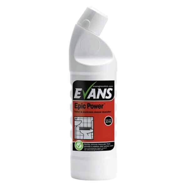 Evans Epic Power - Toilet & Washroom Cleaner Descaler - 1 Litre Bottle