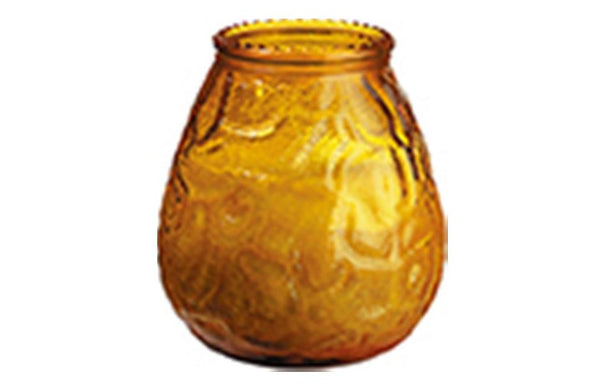 Duni Candle Glass - Venezia - Amber Glass - Pack of 3