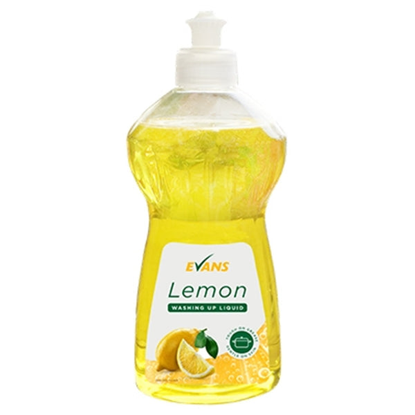 Evans Lemon Washing Up Liquid - Multi Purpose Washing Up Liquid - 500ml Bottle