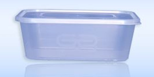 Satco Microwaveable Rectangular Container & Lid - 750ml Capacity - Pack of 50