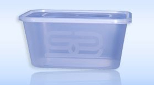 Satco Microwaveable Rectangular Container & Lid - 1000ml Capacity - Pack of 50