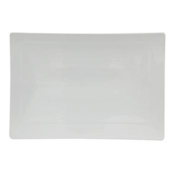 DPS Signature Rectangular Platter - White Porcelain - 32cm - Pack of 3